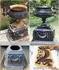 antique garden urn restoration latex