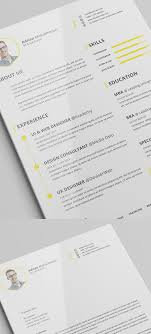 Fonts For Resume 100 Free Elegant Modern CV Resume Templates PSD Freebies 58