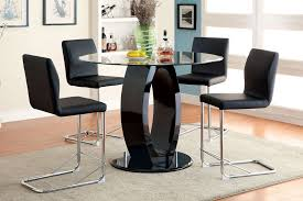 pub style table and chairs black pat wheeler kitchen regarding set decorations 8