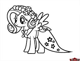 1 : Tranh tô màu Pony đẹp, dễ thương khiến bé phải mê mẩn