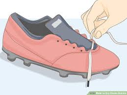 image titled dry cleats quickly step 1