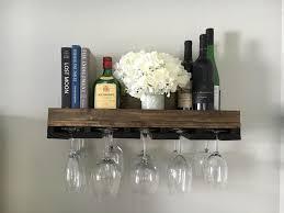 wood wine rack shelves wall mounted
