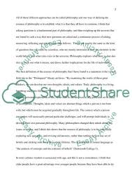 Philosophical Essay Examples What Is The Essence Of Philosophy Essay Example Topics And Well