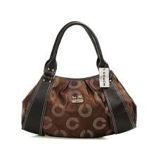 Coach Waverly Logo Large Coffee Satchels DMS