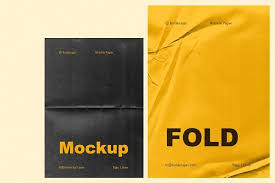Find & download free graphic resources for mockup paper texture. Fold 6 Wrinkle Paper Mockup Psd Mockup Free Mockups Psd In 2020 Wrinkled Paper Paper Mockup Stationery Mockup