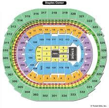 Concert Staples Center Seating Chart Staples Center Los Angeles Ca Seating Chart View