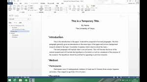 Formatting A Research Paper How To Format Your Research Paper Youtube