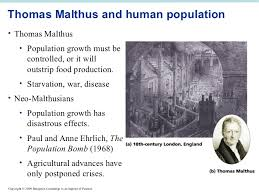 introduction to environmental science 8 thomas malthus and human populationbull
