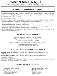 Resume Licensed Marriage And Family Therapist Cover Letter Best