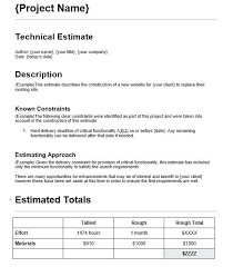 Here Is Preview Of This First Sample Web Design Estimate Evaluation ...