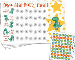 Dinosaur Reward Chart And Stickers Potty Training Reward Chart With 189 Star Stickers For Toddler Boys Or Girls Dinosaur Theme Large 11 X 17 Size