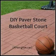 backyard ideas basketball court. a momu0027s diy backyard basketball court from paver stones ideas