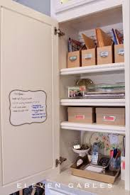 kitchen office organization. Hidden Appliance Cabinet And Organized Desk Command Center In The Kitchen Office Organization T