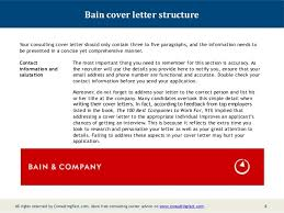 Consulting Cover Letter Bain - Kleo.beachfix.co