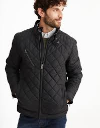 Mens Jackets & Coats | Bomber, Waterproof & Quilted | Joules & MYERS Quilted Biker-Style Style Jacket Adamdwight.com