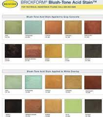 Brickform Acid Stain Color Chart Pin On Floors