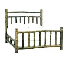 Queen Size Log Bed Frame Beds Large Of Pine Bedrooms And More Ca ...