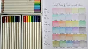 Colours Chart Of Tombow Pencil Colours Volume 1 2 3
