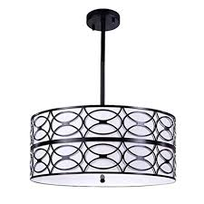 Image Ideas Wellmet Modern Drum Black Chandelier Room Lights For Bedroom 6lights Foyer Pendant Light Amazoncom Wellmet Modern Drum Black Chandelier Room Lights For Bedroom