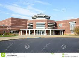 Modern High School Design Exterior Of A Modern High School Building Stock Photo