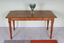 Pine Kitchen Tables For Used Solid Pine Kitchen Table Sturdy With Age Marks
