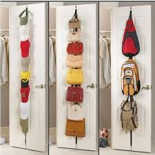 Coat Rack Organizer Free Shipping Adjustable Over Door Straps Hanger Hat Bag Coat 50
