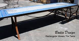 Custom Made Mosaic Tiles Table Moroccan Los Angeles Pertaining To Tile Outdoor Idea 3