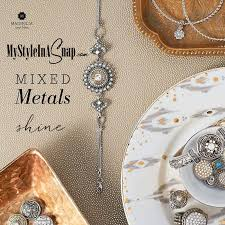 magnolia and vine interchangeable snap jewelry and create your own mixed metals look at mystyleinasnap