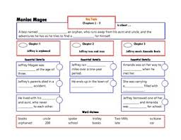 Maniac Magee Plot Chart Maniac Magee Frames For Chapters 1 3 Maniac Magee