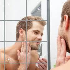 Shop Generic <b>Mirror</b> Sheets Self Adhesive Wall Sticky <b>Mirror</b> - <b>16 Pcs</b>