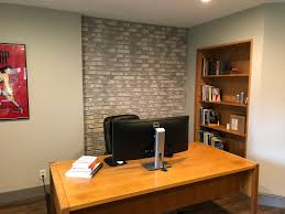 home office accent wall made with regency old chicago brick panels