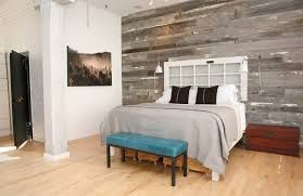 old french door from olde good things converted into a cool headboard