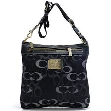 Loading zoom Coach Legacy Swingpack In Signature Large Black Crossbody Bags  AVL.