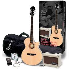 epiphone epiphone pr 4e electro acoustic player pack natural