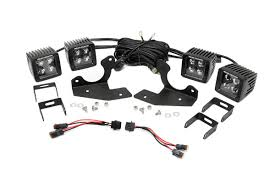 rou rough country gm silverado hd cree led chrome fog light filler plates 1 wiring harness hardware