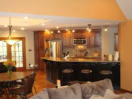 One Room Living Space Custom Kitchen And Dining Room With Living Room In One Room