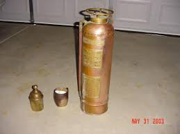 old presumably copper water filled fire extinguishers in my grandfather s attic can someone tell me how to polish them
