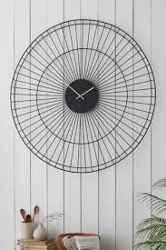 extra large wire wall clock from