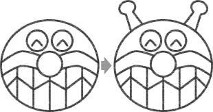 バイキンマンのイラストの簡単な書き方