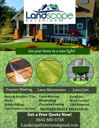 lawn care window washing pressure washing more landscope flyer