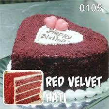Red Velvet Hati Kue Ulang Tahun Bandung