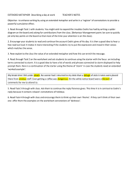 extended metaphor lesson resources for creative writing poetry  extended metaphor