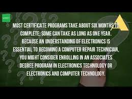 computer tech degree how long does it take to be a computer technician youtube