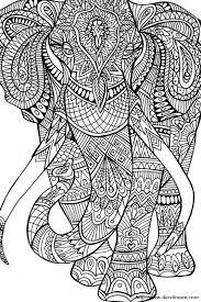 Colorare Per Adulti Disegno Elefante O Mammut Da Colorare