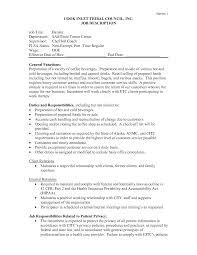 Starbucks Barista Job Description For Resume Job Description Of A Barista For Resume Therpgmovie 16