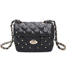 Wholesale Chains Rivet Quilted Crossbody Bag In Black | TrendsGal.com & ... Chains Rivet Quilted Crossbody Bag - Black ... Adamdwight.com