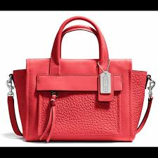 Coach Bleecker Mini Riley Carryall in Love Red