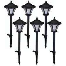 hampton bay low voltage led black metal coach path light 6 pack
