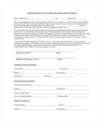 Printable Medical Release Form For Children Enchanting Free Medical Release Template Sample Medical Form Information