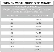 Copy Of Shoe Size Chart Salamanca Custom Made Tango Shoes